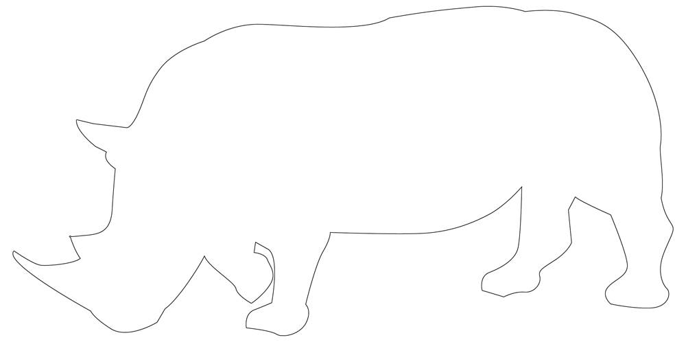Rhinoceros Outline