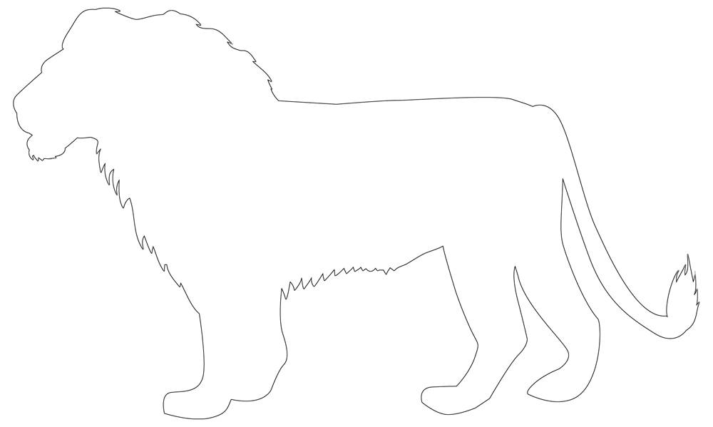 Lion Outline Free Download Of Lion Template Lion outline stock vectors, clipart and illustrations. lion outline free download of lion