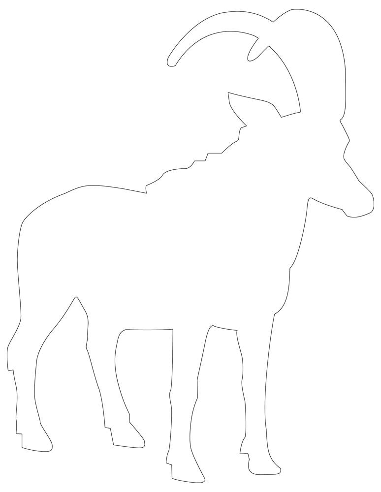 Mountain Goat Outline - Awesome Goat Template
