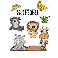 Safari Animals Applique
