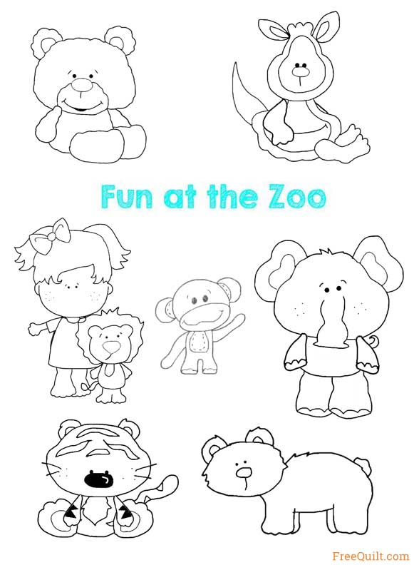 Zoo Animals Patterns Applique Freequilt Com