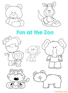 Zoo Patterns - Applique Quilt Patterns