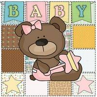 Baby Applique - Baby Bear