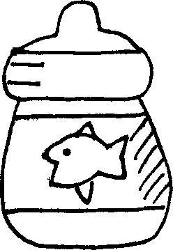 Baby Bottle Applique Pattern - Use Line Drawing for Baby Quilt
