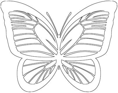 image relating to Printable Butterfly identified as Butterfly Define - 30 Outlines of Printable Butterflies