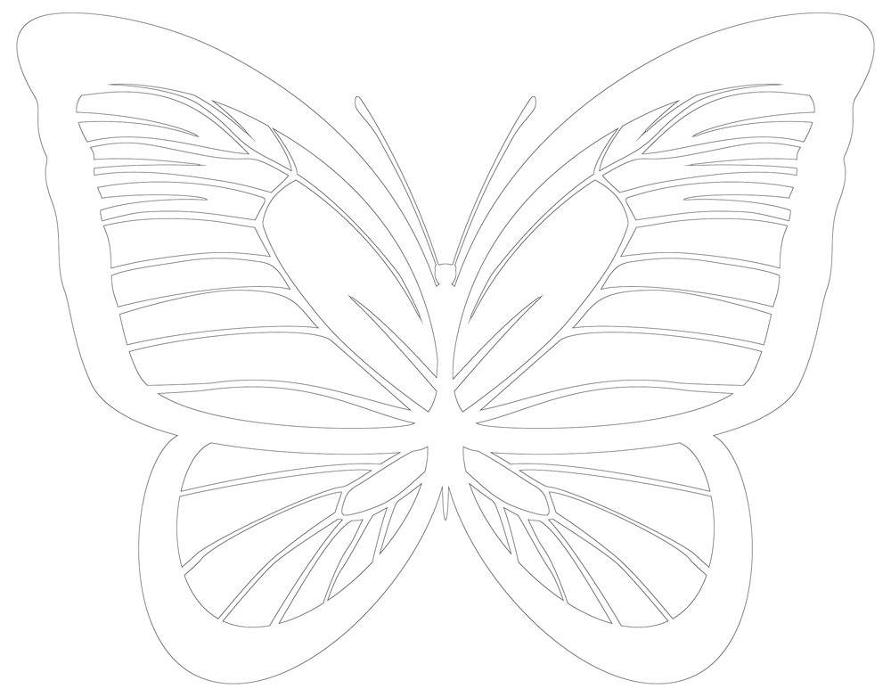 Butterfly Patterns | 30 Butterfly Outlines, Applique