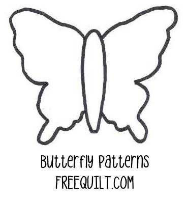 Butterfly 5 Free Quilt Pattern by Four Twin Sisters