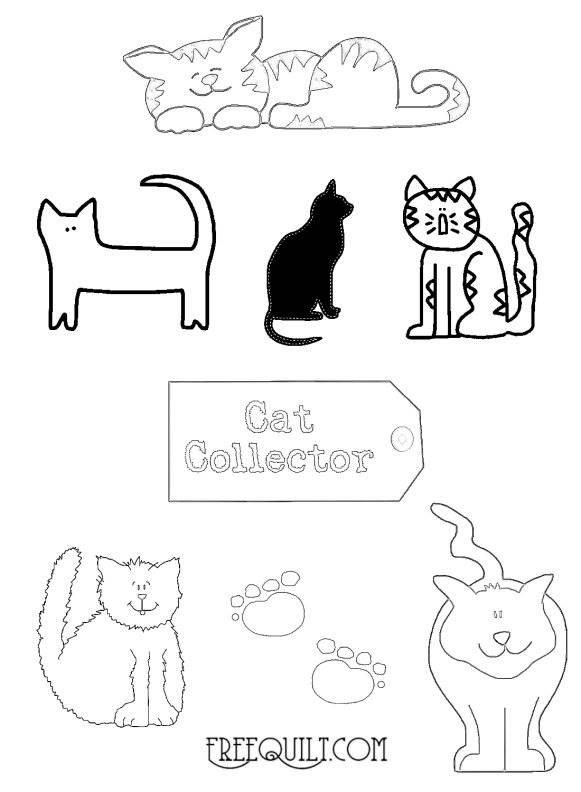 Cat Patterns Applique Freequilt Com