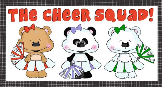 Cheerleaders - The Cheer Squad clipart