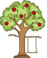 Apple Tree with Swing Pattern
