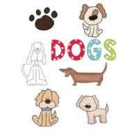 Dog Applique Template