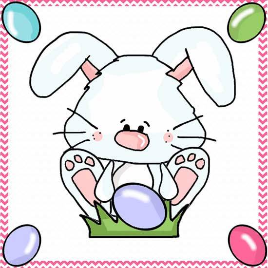 Easter Bunny Line Drawings - Clipart