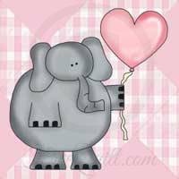 Animal Coloring Pages - Elephant with Heart