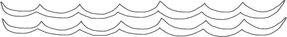 Lake Waves Outline - Printable Fishing Templates, Clip Art