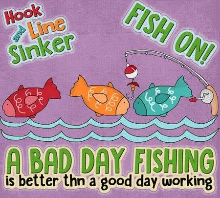 Fishing Applique Pattern - Fish On