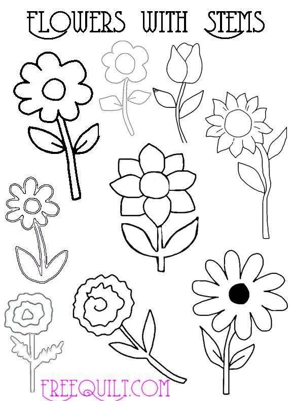Flower Patterns For Applique Freequilt Com