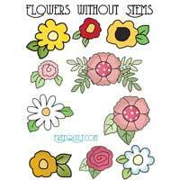 Flowers without Stems Applique