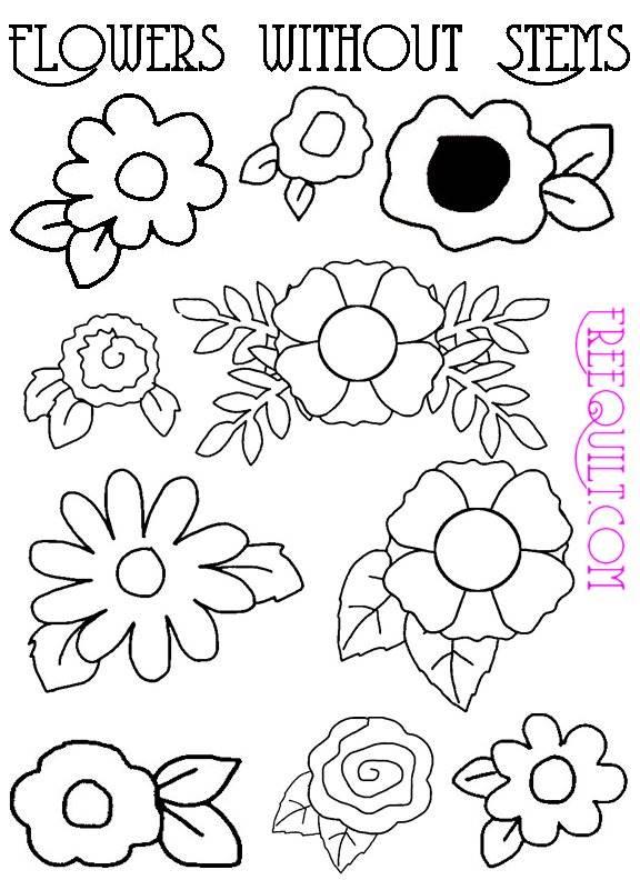 flower patterns for applique