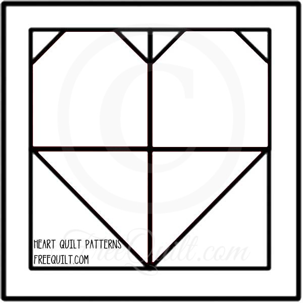 photograph relating to Free Printable Quilt Templates identified as Center Quilt Block Template - Printable Middle Habit for