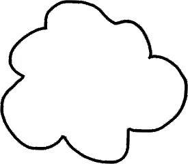 Cloud Applique for Home Sweet Home Wall Hanging Outline