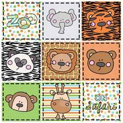 Faces at the Zoo Quilt Pattern