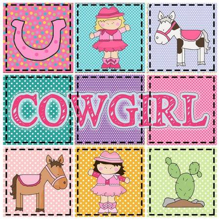Little Cowgirl Applique Pattern