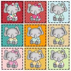 elephants applique pattern