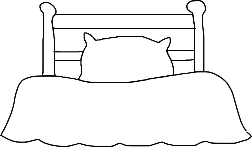 Goldilocks' Bed – Nursery Rhyme Template for Applique, Crafts