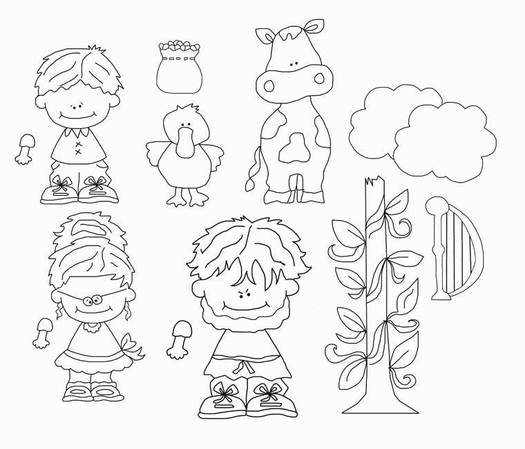 Jack And The Beanstalk Applique Pattern Line Drawings
