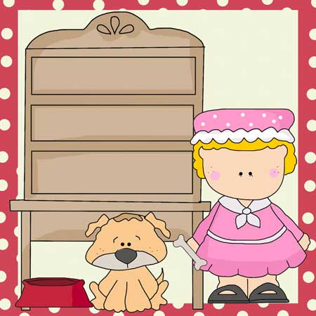 Old Mother Hubbard Clip Art - Nursery Rhyme to Download, Print