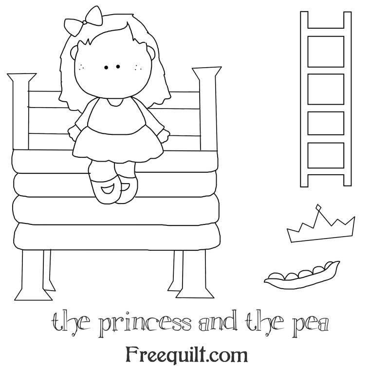 The Princess And The Pea Fairy Tale Pattern Printables