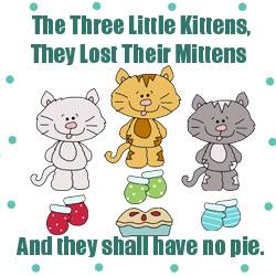 Applique Patterns - Three Little Kittens