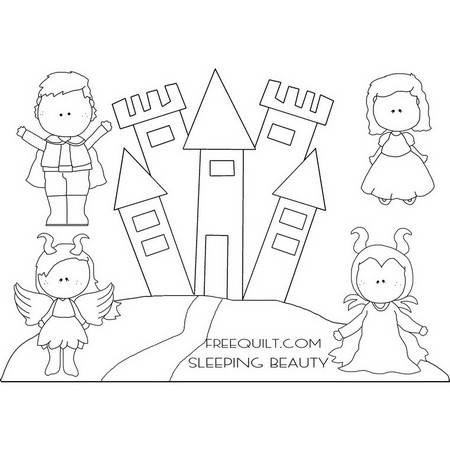 Sleeping Beauty Clip Art - Coloring Pages, Applique, Crafts