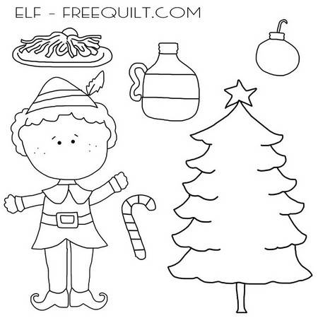 Everyone's Favorite Elf – Clip Art, Black & White Line Art