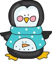 Penguin Pattern with Snowman