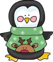 Penguin Template with Reindeer Sweater