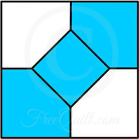 image regarding Baby Quilt Patterns Free Printable called Bow Tie Quilt Block - Straightforward Quilt Practice Having Merely 5 Sections