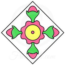 Rosebud Quilt Patterns - Free 6-Inch Rosebud Quilt Block