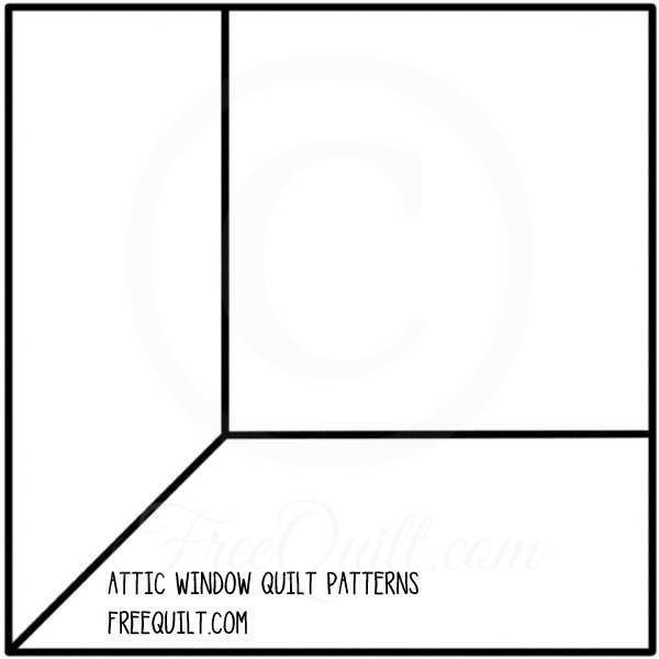Attic Window Quilt Pattern Print Page