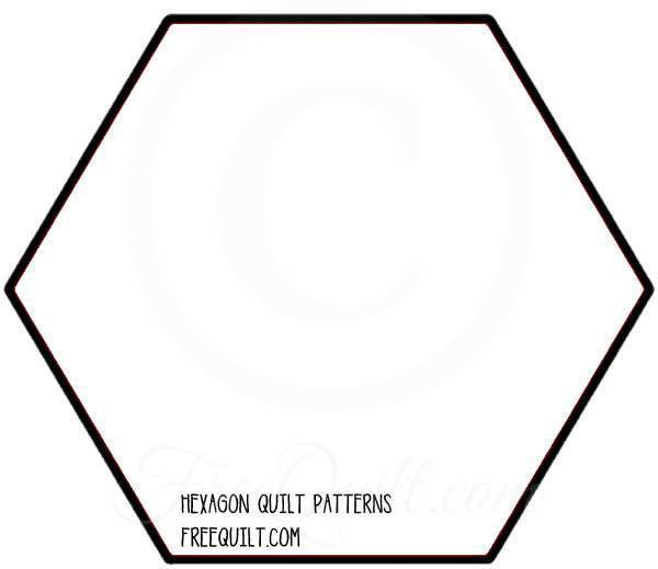 photo about Printable Hexagon Template named Hexagon Quilt Block - Printable Hexagon Quilt Template