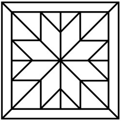 Traditional Quilt Block Patterns - Star of Bethlehem Quilt Block