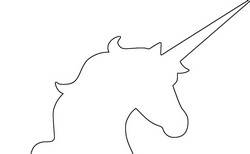 19 Unicorn Outlines
