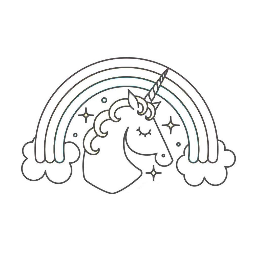 picture regarding Free Printable Unicorn Template identify Unicorn Template with Rainbow Free of charge Printable Coloring Web site